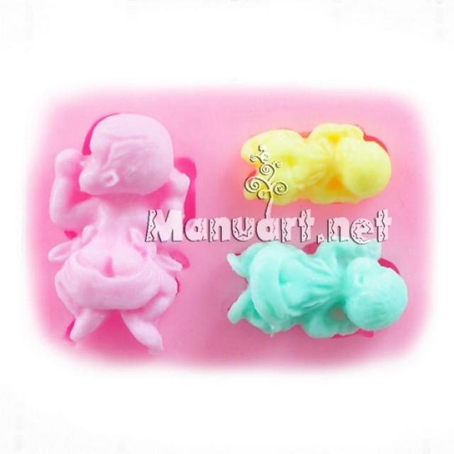 Forma silikonowa - Forma 3 bobasa - do wyrobu mydła, świec i odlewów