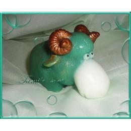 Forma silikonowa - Baran duży 3D - do wyrobu mydła, świec i odlewów