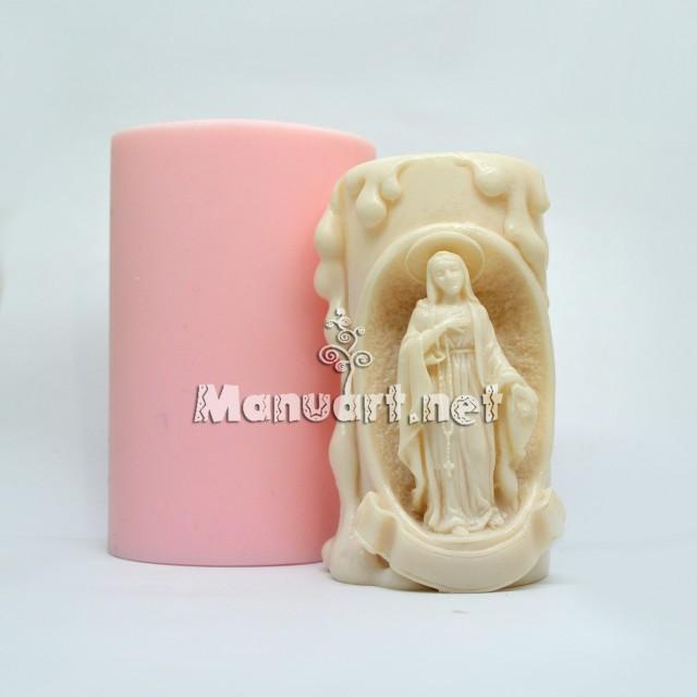 """Forma silikonowa - Forma do świec """"Ave Maria"""" - do wyrobu mydła, świec i odlewów"""
