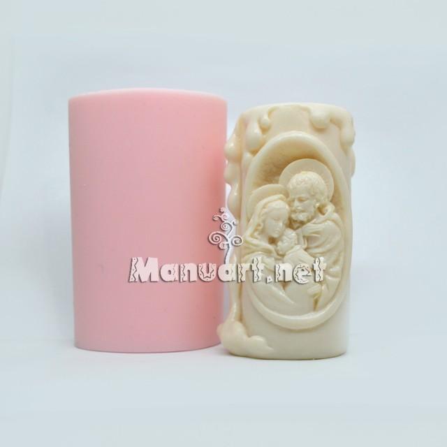 """Forma silikonowa - Forma świecy """"Święta Rodzina"""" - do wyrobu mydła, świec i odlewów"""