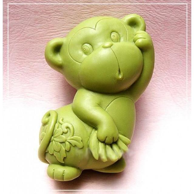 Forma silikonowa - Małpka 2D - do wyrobu mydła, świec i odlewów