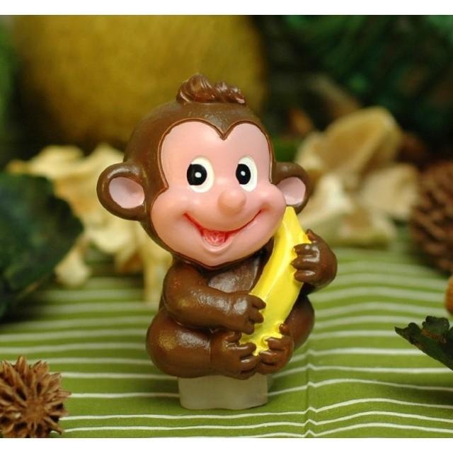 Forma silikonowa - Małpka z bananem mała 3D - do wyrobu mydła, świec i odlewów