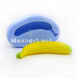 Forma silikonowa - Banan 3D - do wyrobu mydła, świec i odlewów