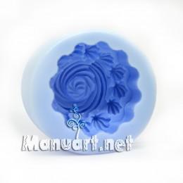 Forma silikonowa - Muffinka z kremowym szczytem 3D - do wyrobu mydła, świec i odlewów