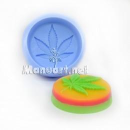Forma silikonowa - Konopie 2D - do wyrobu mydła, świec i odlewów