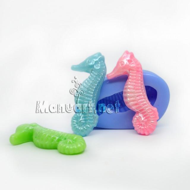 Forma silikonowa - Morski koniok 3D - do wyrobu mydła, świec i odlewów