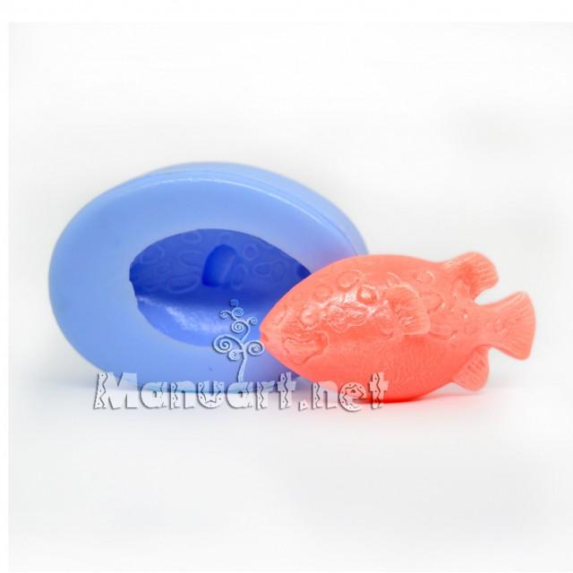 Forma silikonowa - Rybka № 1 3D - do wyrobu mydła, świec i odlewów