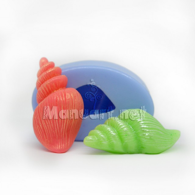 Forma silikonowa - Muszelka mała № 2 3D - do wyrobu mydła, świec i odlewów