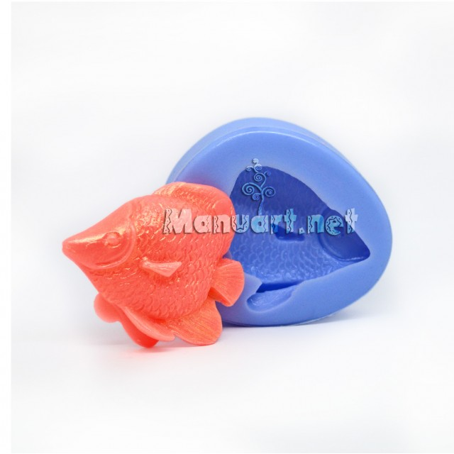 Forma silikonowa - Rybka № 3 3D - do wyrobu mydła, świec i odlewów
