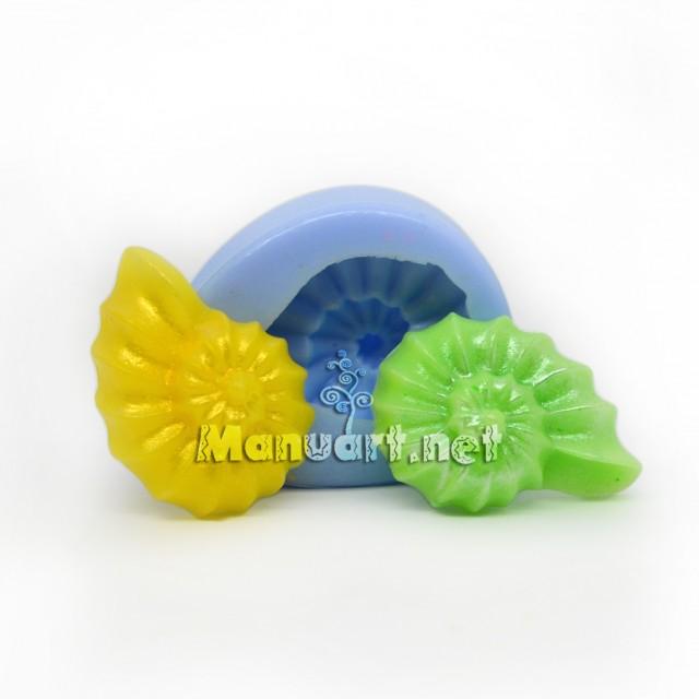 Forma silikonowa - Muszelka mała № 3 3D - do wyrobu mydła, świec i odlewów