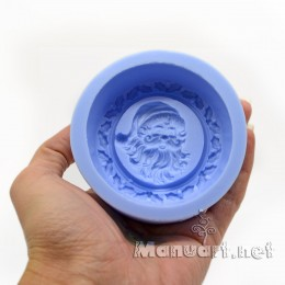 Forma silikonowa - Medalion z Santoj - do wyrobu mydła, świec i odlewów