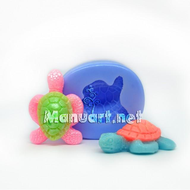 Forma silikonowa - Żółwik mały 3D - do wyrobu mydła, świec i odlewów