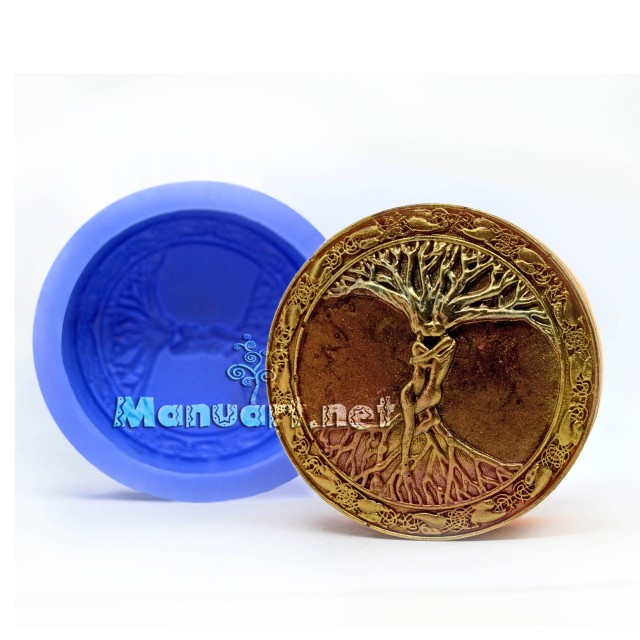 Forma silikonowa - Celtyckie drzewo Życia - kochankowie - do wyrobu mydła, świec i odlewów