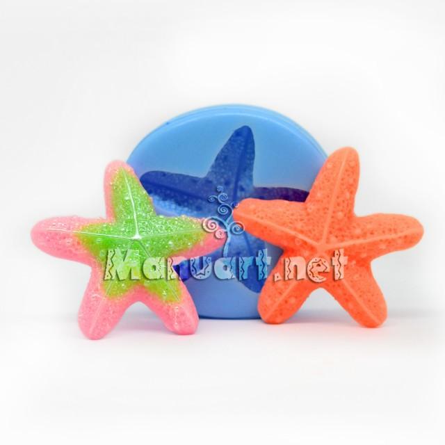 Forma silikonowa - Rozgwiazda - do wyrobu mydła, świec i odlewów