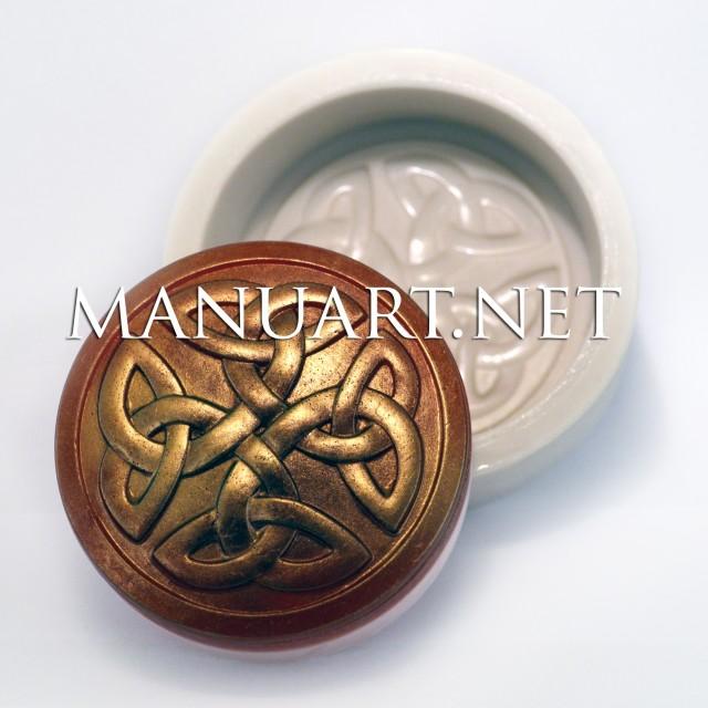 Forma silikonowa - Węzeł celtycki  - do wyrobu mydła, świec i odlewów