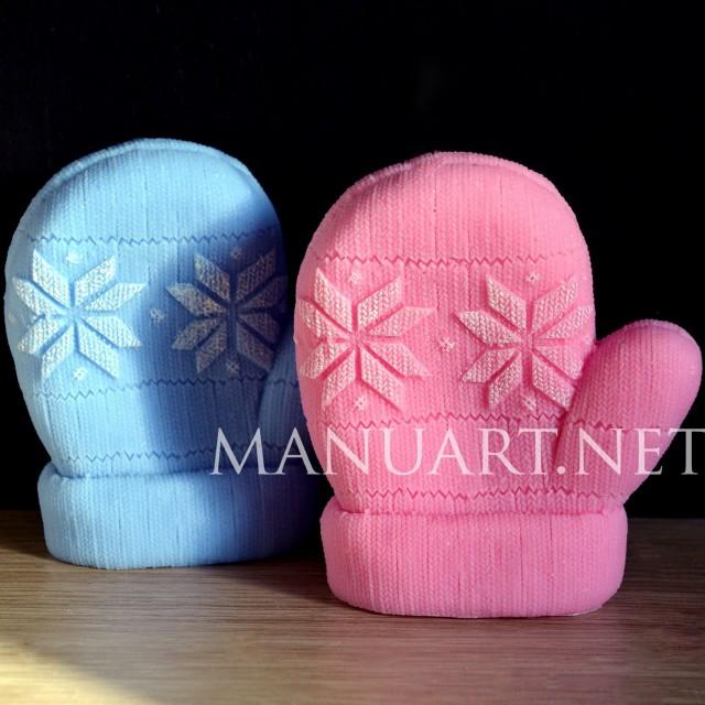 Forma silikonowa - Dzianinowa rękawiczka - do wyrobu mydła, świec i odlewów