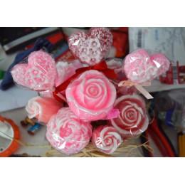 Forma silikonowa - Róża #2 - do wyrobu mydła, świec i odlewów