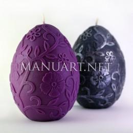 Duże jajko z ornamentem kwiatowym