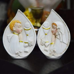 Forma silikonowa - Pierwsza komunia - chłopiec modli się - do wyrobu mydła, świec i odlewów