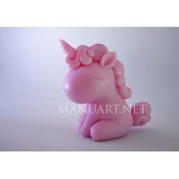 Forma silikonowa - Jednorożec 3D  - do wyrobu mydła, świec i odlewów