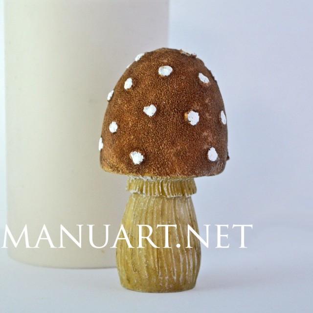 Forma silikonowa - Grzyb muchomor - do wyrobu mydła, świec i odlewów