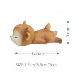 Forma silikonowa - Śpiący jeleń №2 - do wyrobu mydła, świec i odlewów