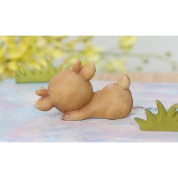 Forma silikonowa - Śpiący jeleń №3 - do wyrobu mydła, świec i odlewów