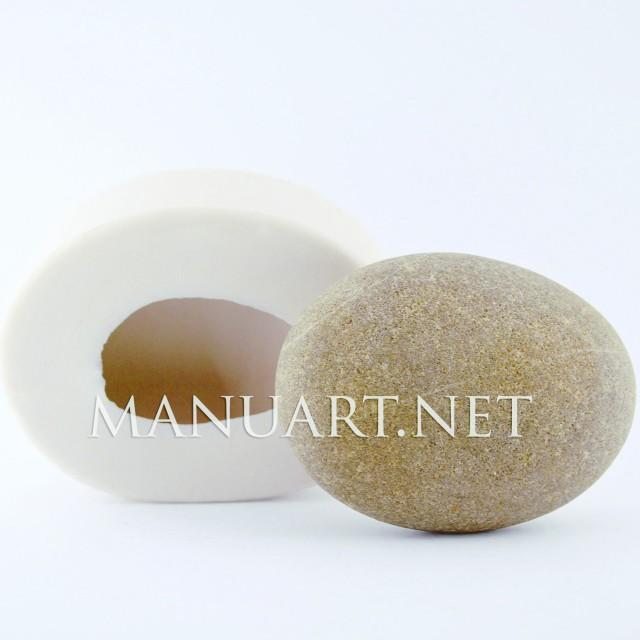 Forma silikonowa - Duży Kamień 3D - do wyrobu mydła, świec i odlewów