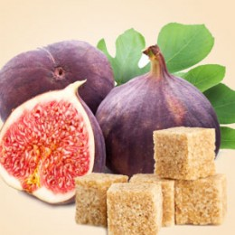Brązowy cukier i figi