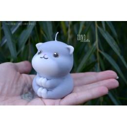Forma silikonowa - Modlący się kot 3D - do wyrobu mydła, świec i odlewów