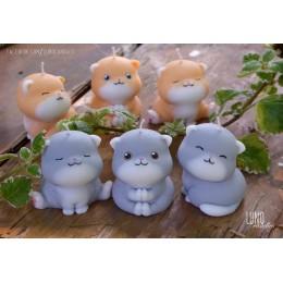 Forma silikonowa - Ładny kot 3D - do wyrobu mydła, świec i odlewów