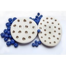 Forma silikonowa - Duże borówki 3D - do wyrobu mydła, świec i odlewów