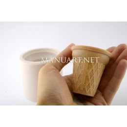 Forma silikonowa - Kubek waflowy - do wyrobu mydła, świec i odlewów