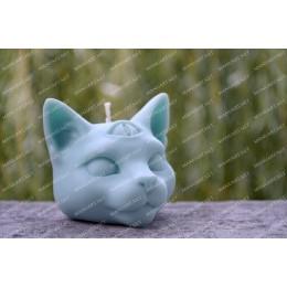 Forma silikonowa - Mistyczny kot - głowa 3D - do wyrobu mydła, świec i odlewów