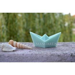 Forma silikonowa - Papierowy statek origami - do wyrobu mydła, świec i odlewów