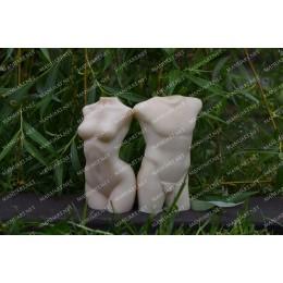 Forma silikonowa - M臋ski tu艂贸w 3D - do wyrobu myd艂a, 艣wiec i odlew贸w