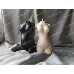 Forma silikonowa - Tułów kobiety w ciąży - do wyrobu mydła, świec i odlewów