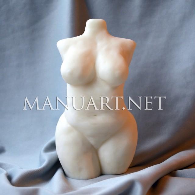 Forma silikonowa - Duży kobiecy tors 3D  - do wyrobu mydła, świec i odlewów