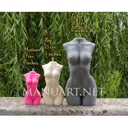 Forma silikonowa - Ogromny tułów kobiety - do wyrobu mydła, świec i odlewów