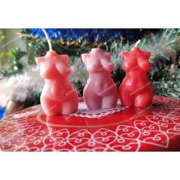 Forma silikonowa - MINI plus size Kobiecy tors 3D - do wyrobu mydła, świec i odlewów