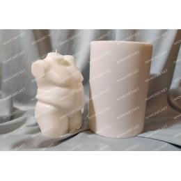 Forma silikonowa - Plus size gruby Męski nagi tors 3D - do wyrobu mydła, świec i odlewów
