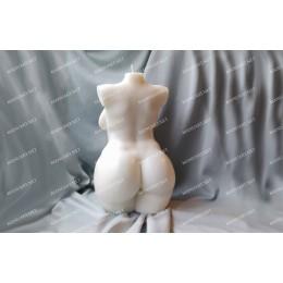 Forma silikonowa - Ogromny plus size kobiecy tors - do wyrobu mydła, świec i odlewów