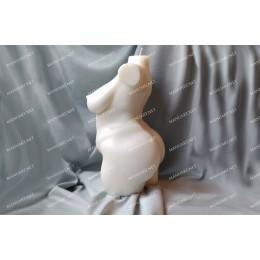 Forma silikonowa - Ogromny plus size kobiecy tors 3D - do wyrobu mydła, świec i odlewów