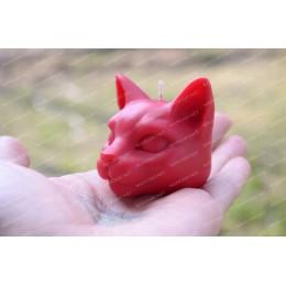 Forma silikonowa - Mała głowa kota 3D - do wyrobu mydła, świec i odlewów