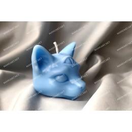 Forma silikonowa - Mała mistyczna Kocia Głowa 3D - do wyrobu mydła, świec i odlewów