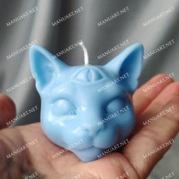 Mała mistyczna Kocia Głowa 3D