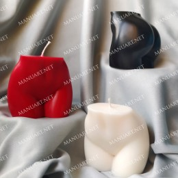 Forma silikonowa - Kobiecy tył mały 3D - do wyrobu mydła, świec i odlewów