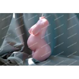 Forma silikonowa - Nowy duży tułów kobiety w ciąży 3D - do wyrobu mydła, świec i odlewów