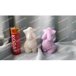 Forma silikonowa - Nowy mini tu艂贸w kobiety w ci膮偶y 3D - do wyrobu myd艂a, 艣wiec i odlew贸w