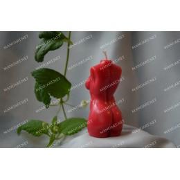 Forma silikonowa - Mini kobiecy tors 3D - do wyrobu mydła, świec i odlewów